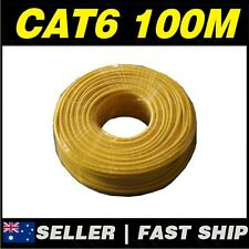 1x Yellow 100M CAT6 UTP Network Ethernet LAN Cable Roll *AU STOCK*