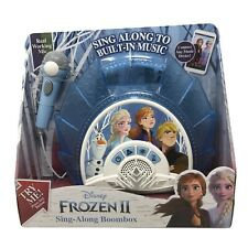 Frozen 2 Sing Along Boombox Karaoke System with Microphone, Built In Music