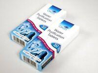 50 pastillas potabilizadoras purificadoras agua mochila 72 horas