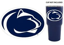 "Penn State Nittany Lions  4"" Premium Vinyl Decal for YETI Tumbler Car Auto"