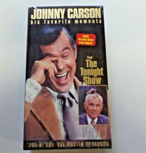 Johnny Carson His Favorite Moments from The Tonight Show VHS '70's & 80's NEW