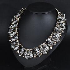Fashion Charm Bib Pearl Crystal Statement Chunky Choker Chain Necklace Jewelry L