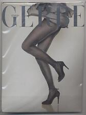 NEW GERBE TIGHTS SHEHERAZADE BLACK / SILVER SIZE 1 OPAQUE 70 DENIERS TIGHTS