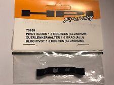 HPI RS4 PRO-4 Pivot Block 1.5 Degrees RARE BLACK 75159