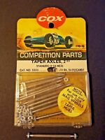 "Cox Stainless Taper Axle. 2"" long  with lock nuts. 1 each Cat # 3355"
