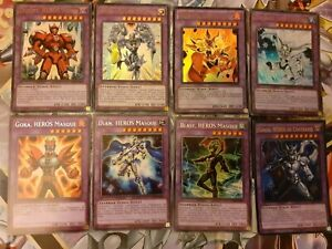 Lot Cartes Yu Gi Oh! 60 cartes Deck Héros élémentaires / Héros masqués - VF