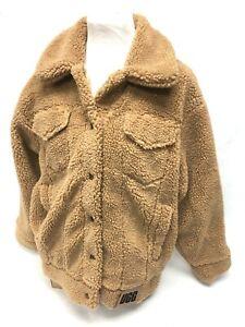 UGG Women's Frankie Sherpa Trucker Jacket Camel Tan Coat 1113951