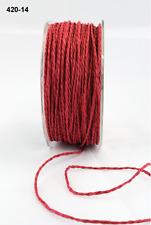 Paper Cord Ribbon -  May Arts - 420-14 - Red - 5 yds.