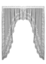 Sheer Divine White Lace Window Swag by Heritage Lace