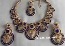 INDIAN/Bollywood Pakistano Stile Imitazione Collana Set Con Orecchini E Tikka