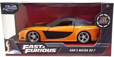 "Fast And Furious Han's Mazda RX-7, JADA, Diecast Toy Car, 5"" 1/32 diecast NIB"