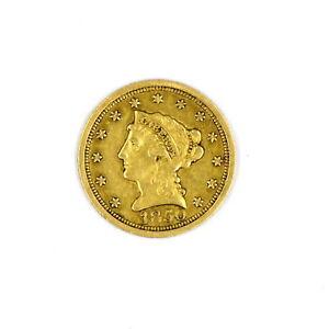 1850-O $2.5 LIBERTY HEAD QUARTER EAGLE 90% GOLD COLLECTIBLE US COIN VF CONDITION