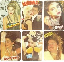 "(6) Different 1991 Madonna Joemare' 2 3/4"" x 4"" Portuguese Pocket Calendar Cards"