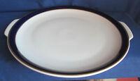 Thomas, Kuchenplatte, Platte rund 26,5cm, Kobalt Goldränder, Rheinland Porzellan