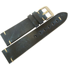 20mm ColaReb Firenze Mens Blue Distressed Leather Made in Italy Watch Band Strap