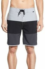 Hurley NEW Gray Men's Size 32 Colorblock Lace-Up Swim Board Surf $55 165