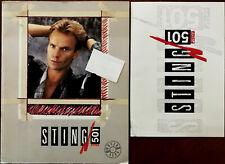 More details for sting levi's 501 world tour 1985 tour programme + poster + windsor hall ticket