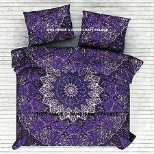 Indian Black Star Mandala DOUBLE Duvet Cover Set Reversible Boho Hippie Blanket