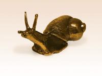 Miniature Bronze Figurine Snail escargot sculpture art manual processing rare +