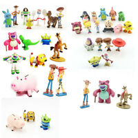 Toy Story Woody Buzz Lightyear Jessie Bulleye Figures Cake Topper Toys Gift Set
