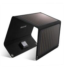 RAVPower Solar Charger 21W Solar Panel with Dual USB Port Waterproof Foldable.