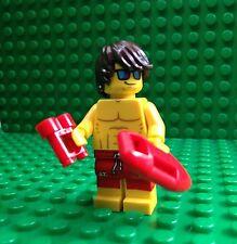 Lego Lifeguard Minifigures Baywatch Swimmer Surf Binos City Town 71007 Series 12