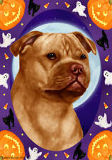 Staffordshire Terrier Orange Halloween Howls Flag