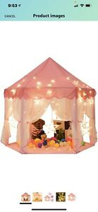 Sunnyglade 55'' x 53'' Princess Tent with 8.2 Feet Big and Large Star Lights