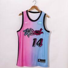 Men's 2020-21 Miami Heat Tyler Herro #14 Pink Blue City stitched Jersey UKG