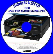 EPSON XP600 XP700 XP750 XP800 XP850 PRINTER WASTE INK PAD RESET SOFTWARE FIX CD