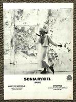Vintage Original 1980's Vogue Magazine Advert Sonia Rykiel Paris London 80s Ad