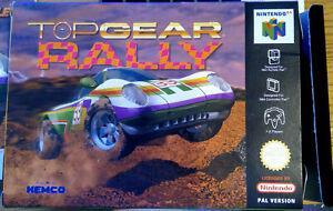 Top Gear Rally box and instructions PAL Nintendo 64 N64 Kemco / Boss