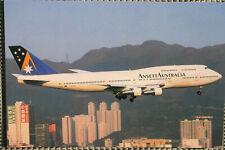 AK Airliner Postcard ANSETT AUSTRALIA B.747