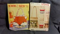 Kwik Sew/Simplicity's Purse Sewing Patterns Lot of 2