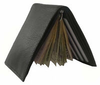 Mens Leather Metal Spring Money Clip Wallet Slim Front Pocket Credit Card Holder
