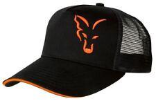 FOX NOIR/Orange Casquette Camionneur / pêche à la carpe habits