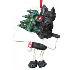 E&S Pets Dangling Legs Christmas Ornament NEW Dog SCOTTIE TERRIER Puppy Holiday
