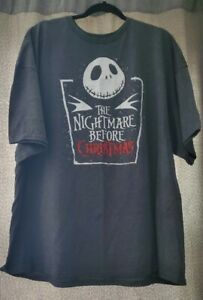 Jack Skellington Grey Nightmare Before Christmas Shirt New with tags! Men's 3xl
