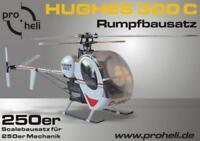 """Scale Rumpfbausatz / Fuselage Kit """"Hughes 300"""" für den T-Rex 250 und andere 250"""
