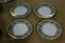 4 WEDGWOOD Bone China England Gold Columbia Sage Green Bread Plates 6""