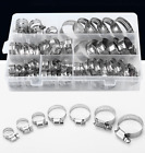 60 Pieces Adjustable Hose Clamps Worm Gear Stainless Steel Clamp Assortment Kit