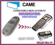 CAME TOP432SA Compatible Télécommande / Cloner 433,92Mhz