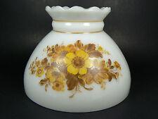 Lamp Shade White Milk Glass Hand-Painted Scalloped Student Kerosene GWTW Swag