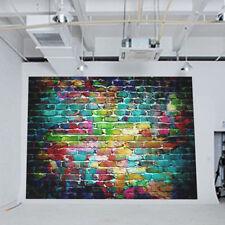 FM- Graffiti Brick Wall Photo Studio Background Cloth Photography Backdrop _GG