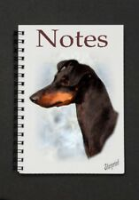 Manchester Terrier Dog Notebook/Notepad with a small image on every page