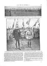WWI Pilot Capitaine Heurteaux Lieutenant Fonck Médaille de Guynemer ILLUSTRATION