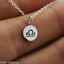 LIBRA NECKLACE - 925 Sterling Silver - Tiny Horoscope Zodiac Charm Jewelry *NEW*