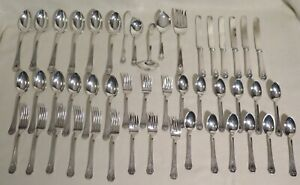 Heraldic by 1847 Rogers Silverplated Flatware 47 Pieces