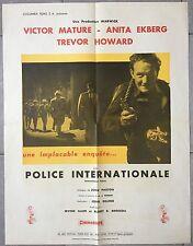 Affiche POLICE INTERNATIONALE Interpol VICTORE MATURE John Gilling 50x65cm *