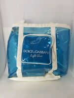Dolce & Gabbana light blue plastic Large Tote Summer Pool Beach Bag Authentic